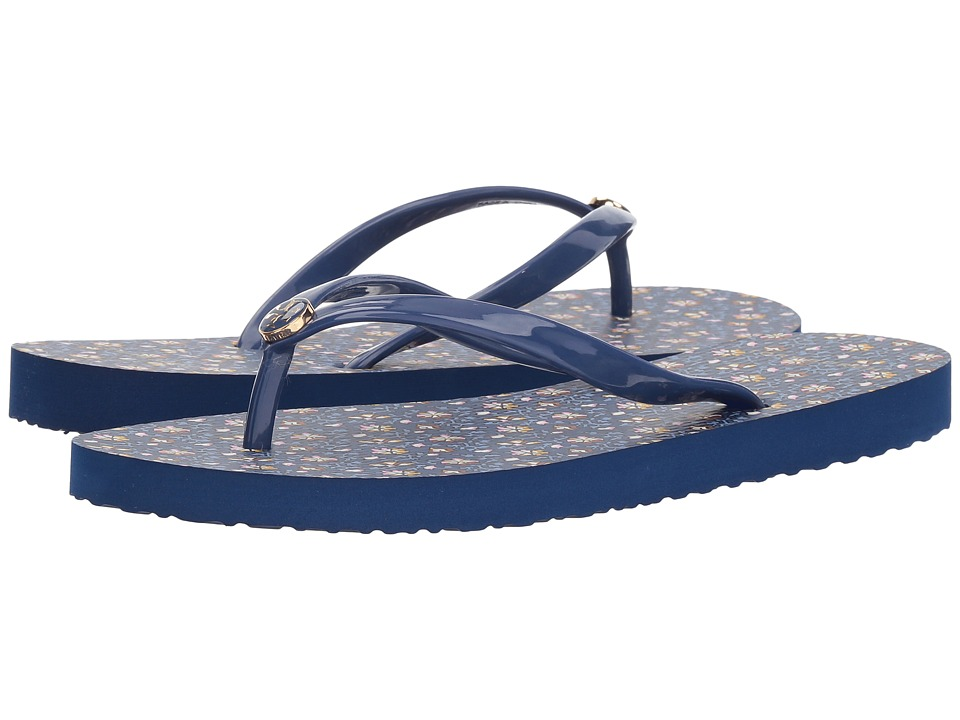 Tory Burch Thin Flip Flop (Fresh Blueberry/Wild Pansy) Sandals
