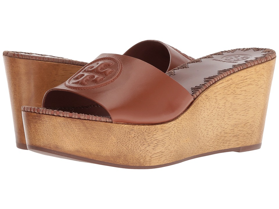 Tory Burch Patty 80mm Wedge Slide (Perfect Cuoio) Slides