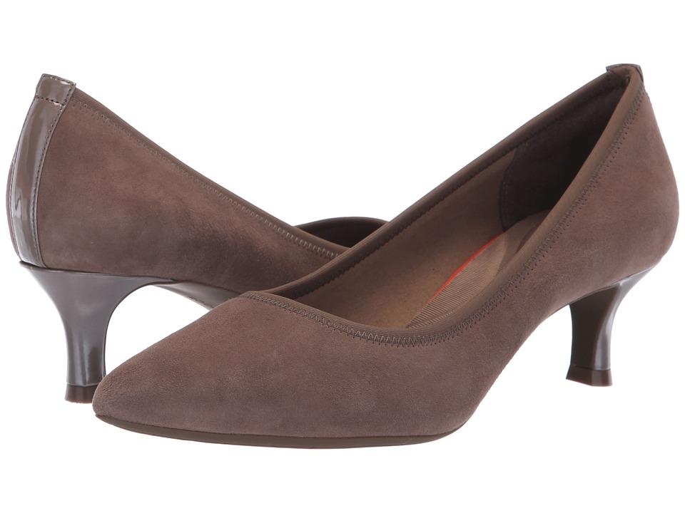 Rockport Total Motion Kaiya Pump (Warm Iron Suede) Women's Shoes