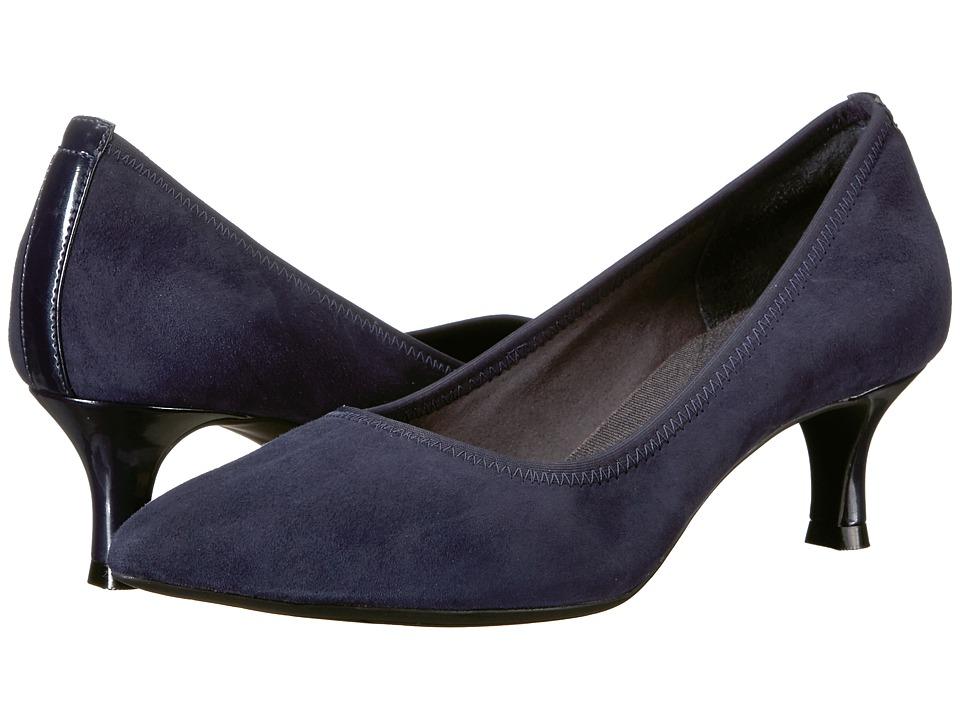 Rockport Total Motion Kaiya Pump (Dark Sapphire Suede) Women's Shoes