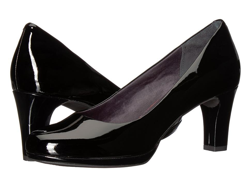 Rockport Total Motion Leah Pump (Black Patent) Women's Shoes