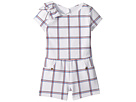 Janie and Jack Short Sleeve Open Back Romper (Toddler/Little Kids/Big Kids)