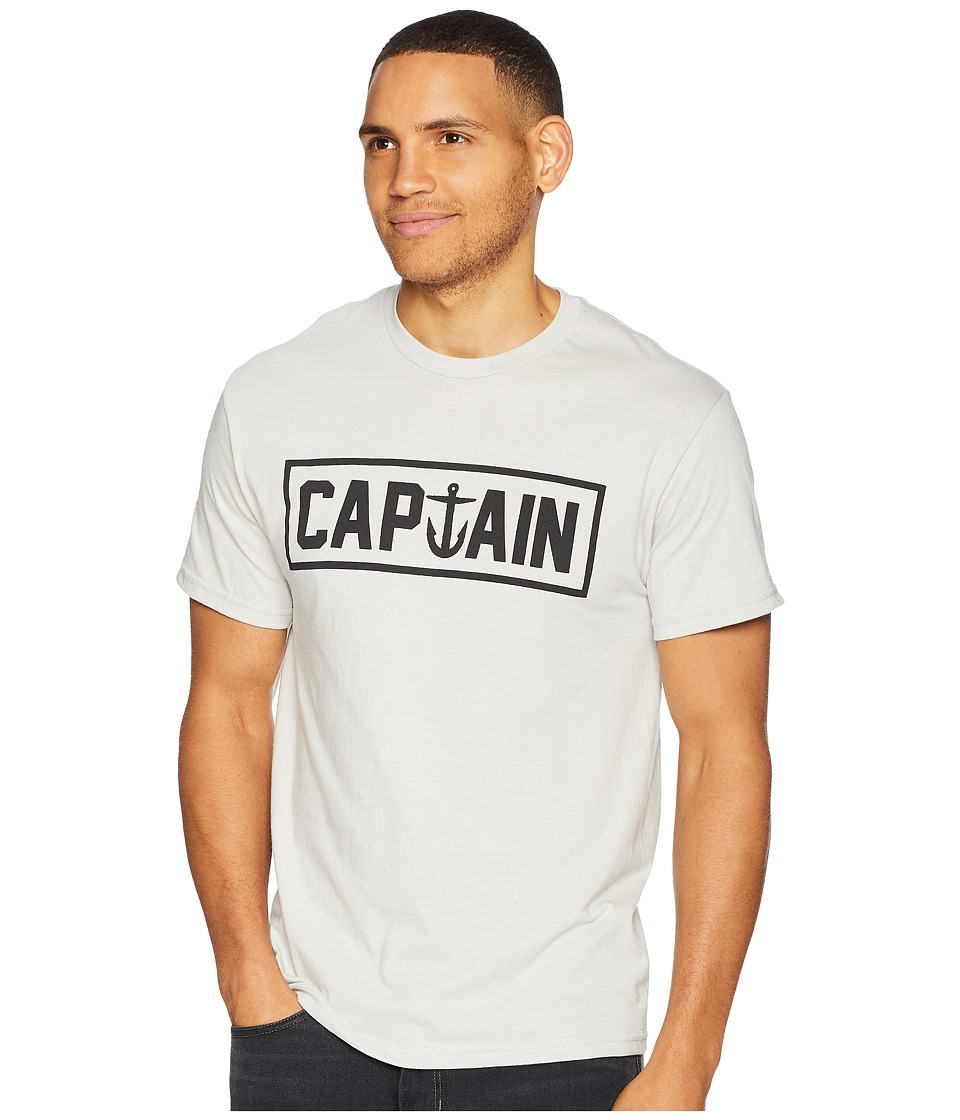 Captain Fin - Naval Captain Tee (Silver) Mens T Shirt