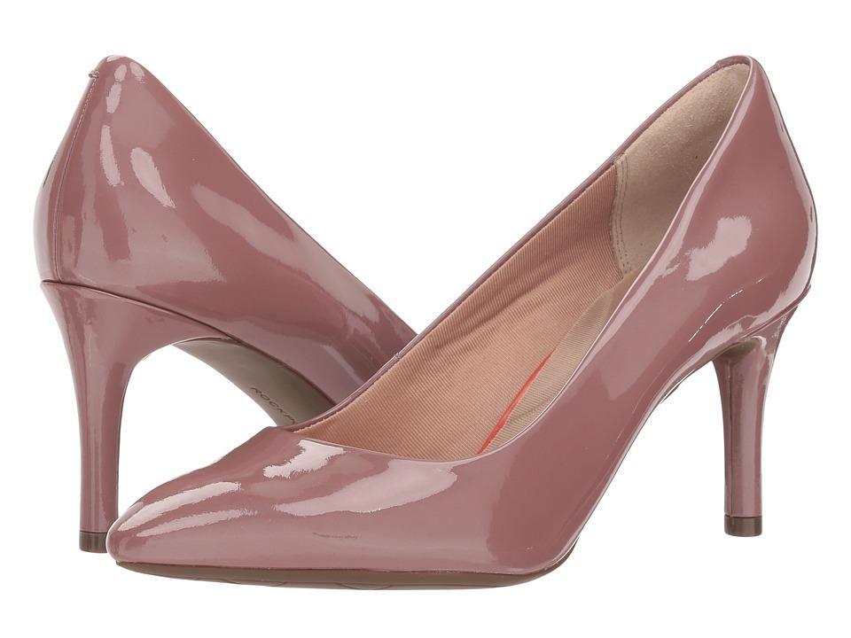 Rockport Total Motion 75mm Pointy Toe Plain Pump (Petal Pearl Patent) Women's Shoes