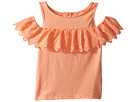 Janie and Jack Sleeveless Off Shoulder Ruffle Top (Toddler/Little Kids/Big Kids)