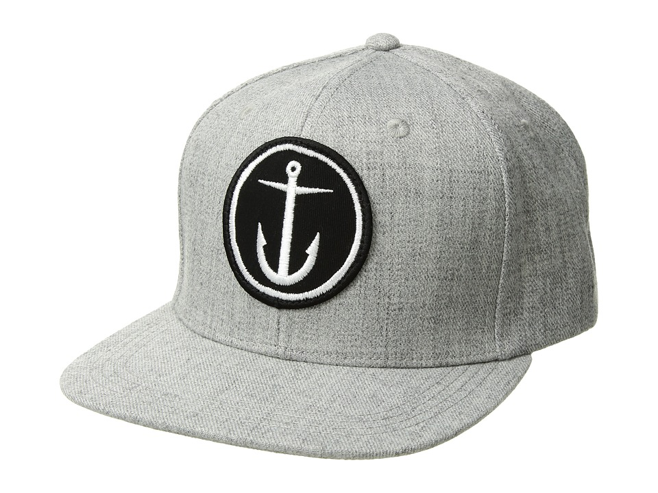 Captain Fin - OG Anchor 6 Panel Hat (Heather Grey) Caps