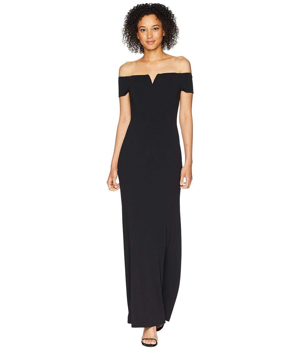 Calvin Klein - Off Shoulder Gown CD8B17BJ (Black) Womens Dress