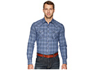 Wrangler Retro Long Sleeve Two-Pocket Snap Plaid