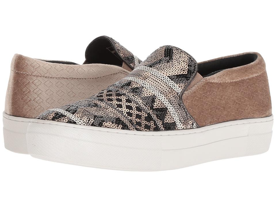 Roper Darcy (Brown Embossed Velvet Fabric Heel/Multicolor Sequin Upper) Slip-On Shoes