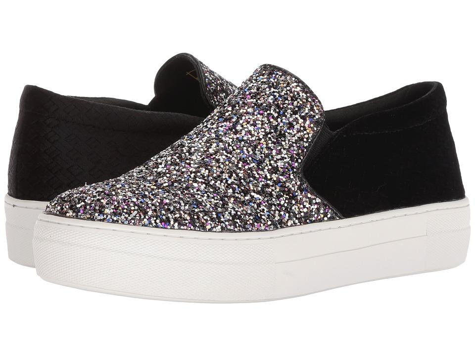 Roper Darcy (Black Embossed Velvet Fabric Heel/Multicolor Glitter Upper) Slip-On Shoes