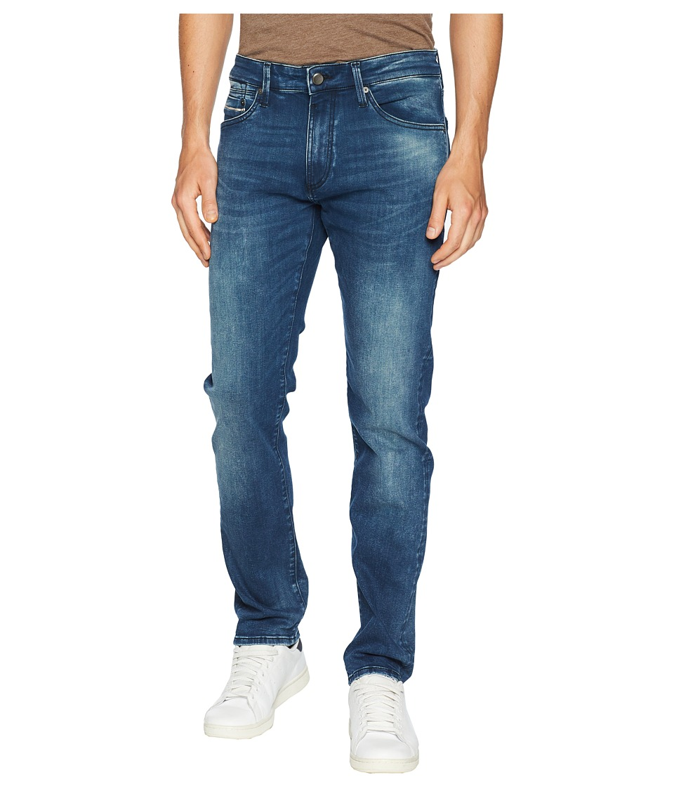 Mavi Jeans - Marcus Slim Straight in Forest Blue/White Edge (Forest Blue/White Edge) Mens Jeans