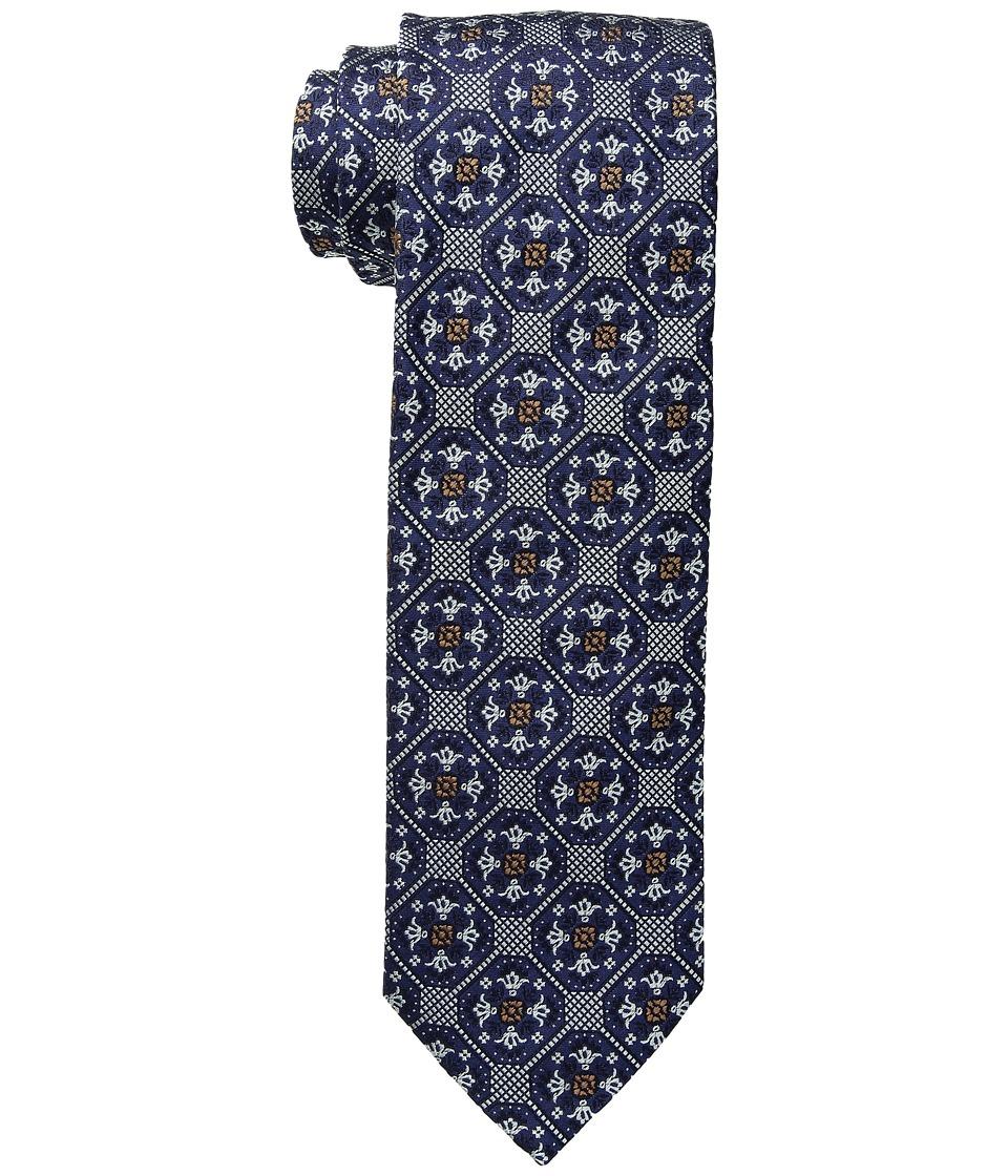 Eton - Medallion Tiles Tie (Navy) Ties