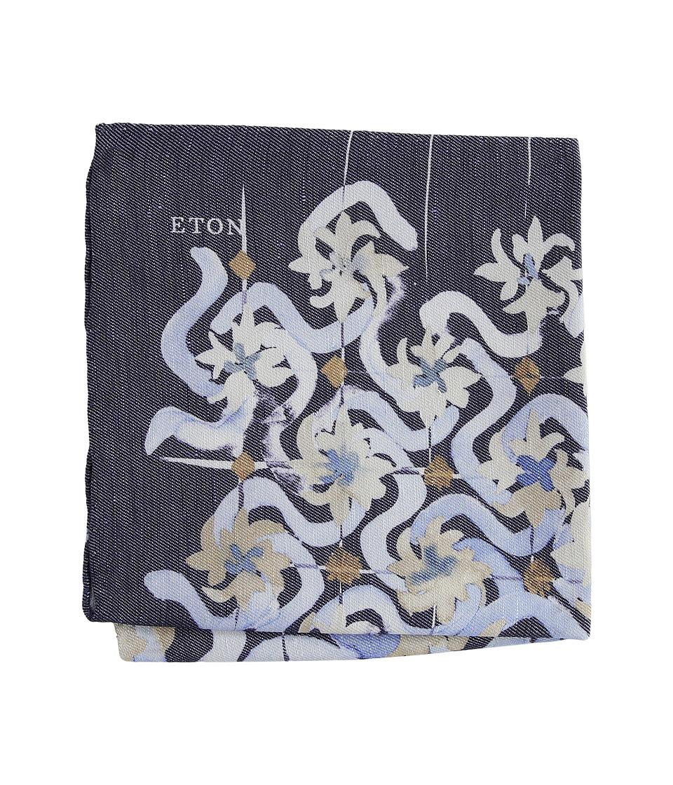 Eton - Watercolor Design Pocket Square (Navy) Scarves