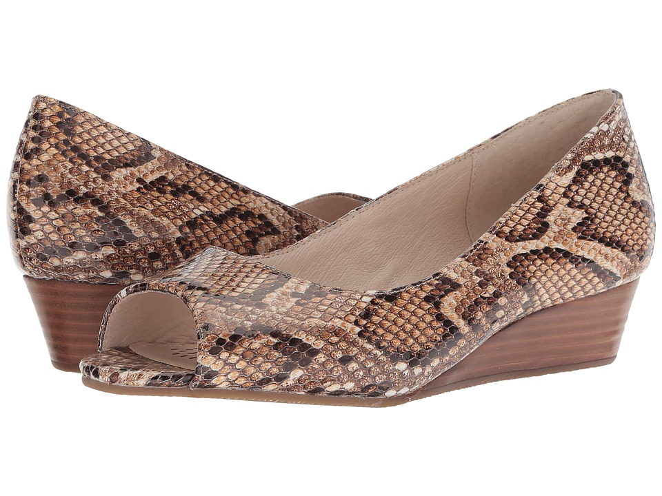 Sudini Willa (Brown Printed Leather) Wedges