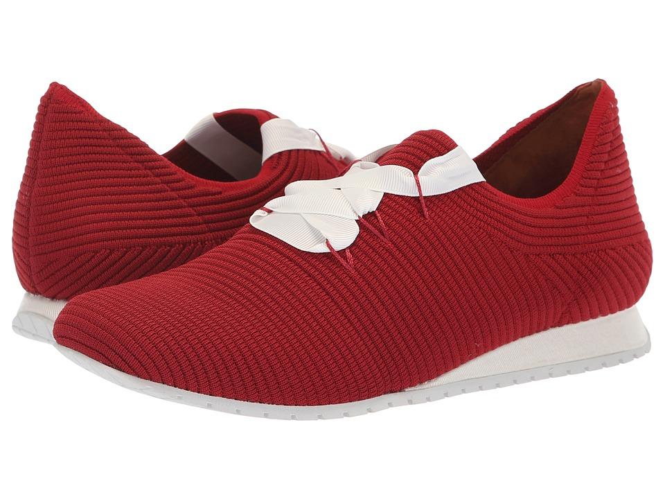 L'Amour Des Pieds Taimah (Red/White Stretch) Women's Shoes