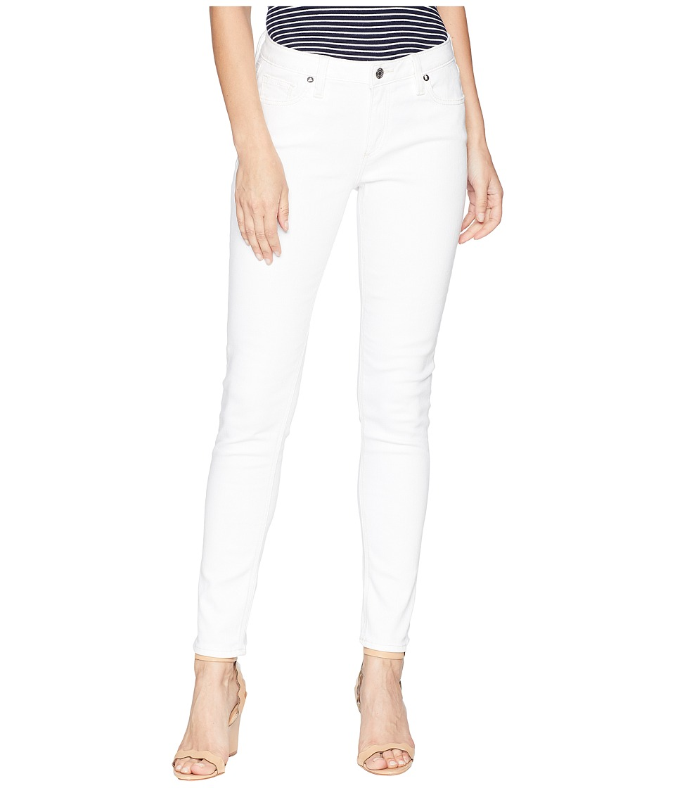 Miss Me - Five-Pocket Mid-Rise Skinny Jeans in White (White) Womens Jeans