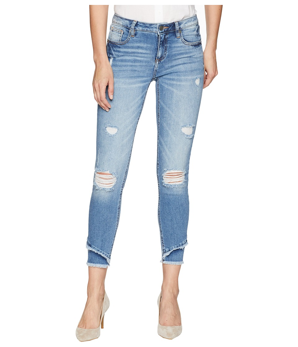 Miss Me - Mid-Rise Ankle Skinny Jeans in Denim (Denim) Womens Jeans