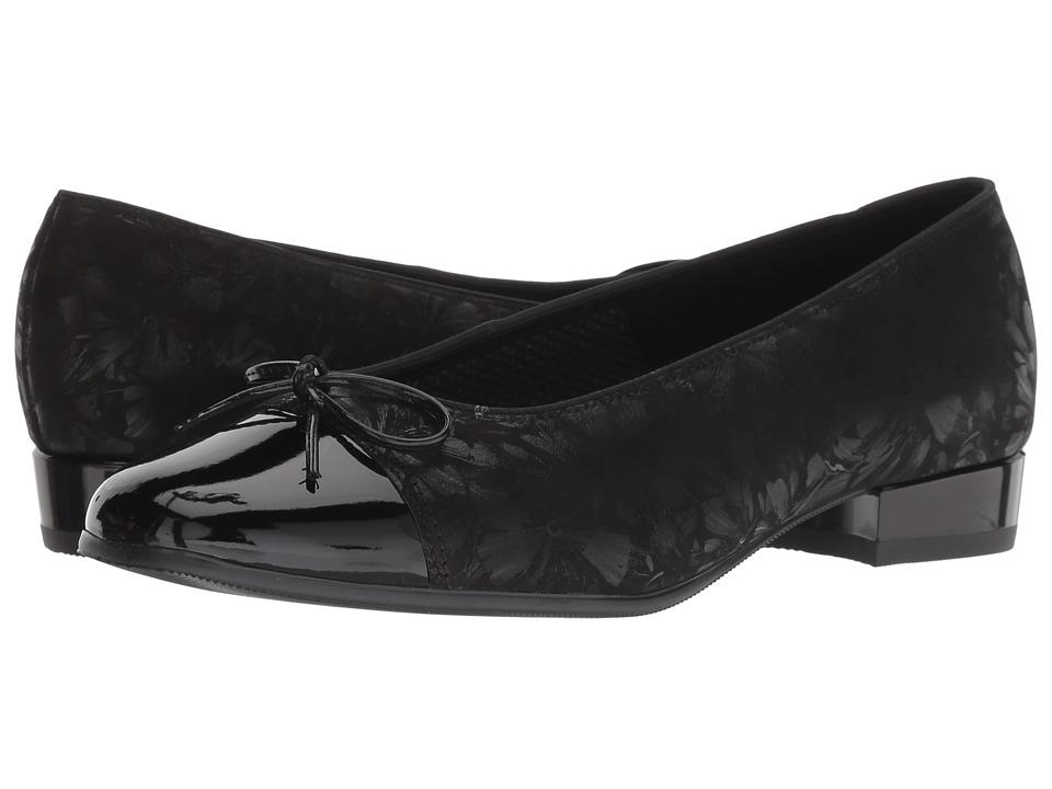 ara Bel (Black Dragonfly/Patent Toe) Women's Slip-on Dress Shoes