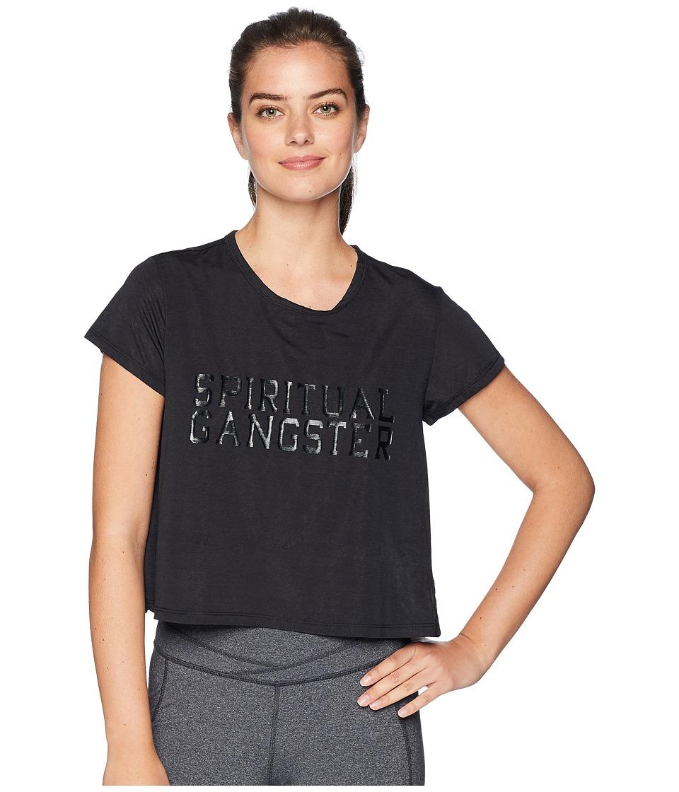 Spiritual Gangster - SG Varsity T-Shirt (Black) Womens T Shirt