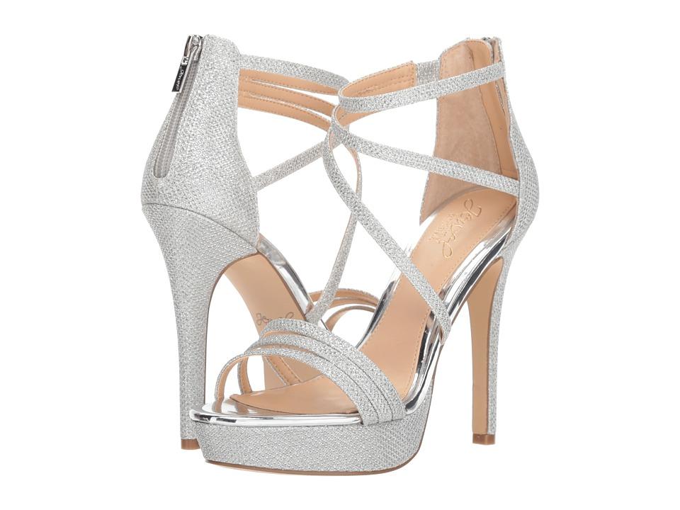 Jewel Badgley Mischka Maeva (Silver) Women's Shoes