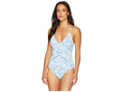 Robin Piccone Robin Piccone Sadie V-Neck Crisscross Back Ties One-Piece