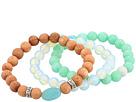 Dee Berkley Quartz, Wood and Opalite Beaded Bracelet Set