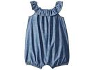 Ralph Lauren Baby Cotton Chambray Bubble Romper (Infant)