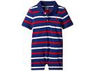 Ralph Lauren Baby Striped Cotton Polo Shortall (Infant)