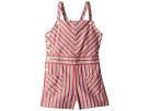 Polo Ralph Lauren Kids Striped Bow-Back Cotton Romper (Toddler)