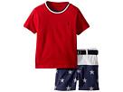 Ralph Lauren Baby Ralph Lauren Baby T-Shirt, Belt Shorts Set (Infant)