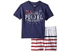 Ralph Lauren Baby Cotton Henley Shorts Set (Infant)
