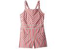 Polo Ralph Lauren Kids Striped Bow-Back Cotton Romper (Little Kids)