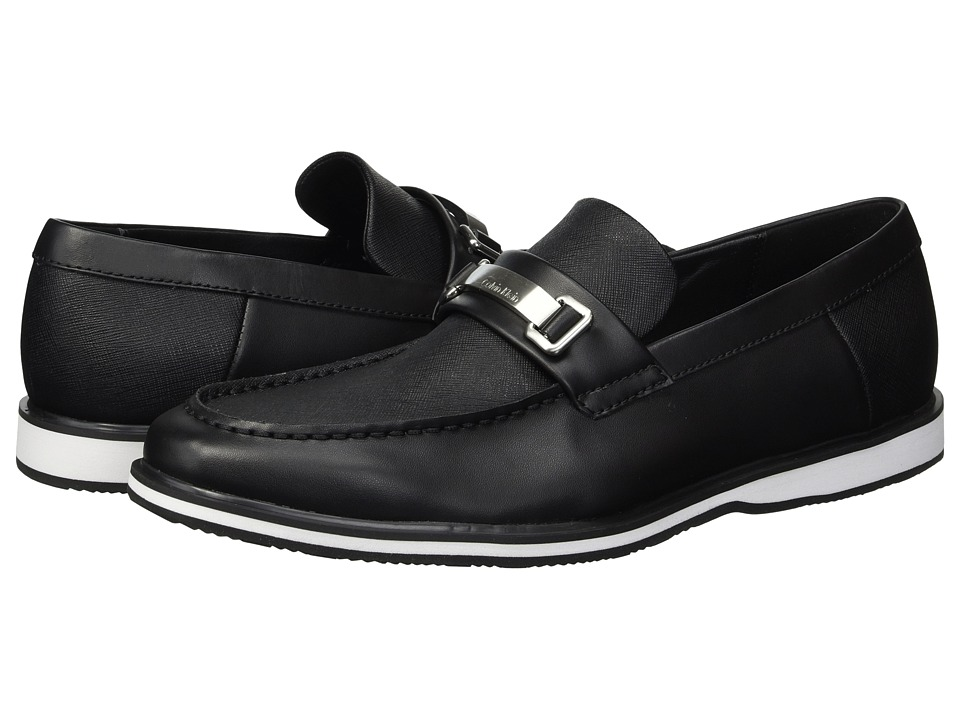 Calvin Klein - Wheeler (Black Brushed Leather/Saffiano) Mens Shoes