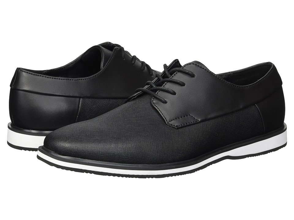 Calvin Klein - Wilfred (Black Saffiano/Brushed Smooth) Mens Shoes