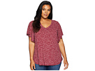 B Collection by Bobeau Plus Size Mariee Flutter Sleeve Tee