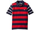 Polo Ralph Lauren Kids Striped Cotton Mesh Polo Shirt (Little Kids/Big Kids)