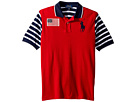Polo Ralph Lauren Kids Striped Cotton Mesh Polo Shirt (Big Kids)
