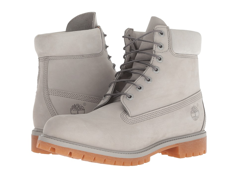 Timberland 6 Premium Boot (Flint Gray) Men's Lace-up Boots