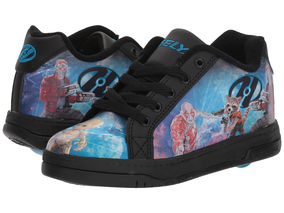 Heelys - Split Guardians of the Galaxy (Little Kid/Big Kid/Adult) (Black/Blue) Kids Shoes