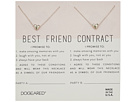 Dogeared Best Friend Contract, Set of 2 Heart Bead Necklaces
