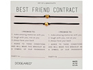Dogeared Best Friend Contract, Set of 2 Heart Bracelets