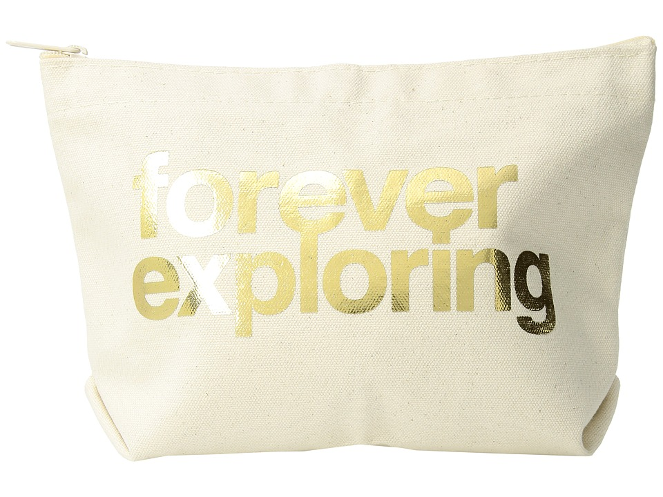 Dogeared - Lil Zip, Forever Exploring (Natural/Gold) Cosmetic Case