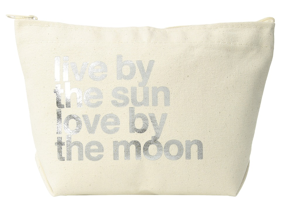 Dogeared - Lil Zip, Live By the Moon (Natural/Gold) Cosmetic Case