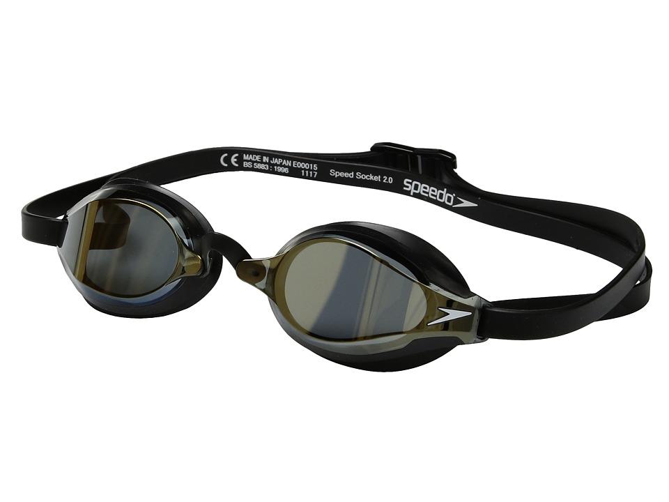 Speedo Speed Socket 2.0 Mirrored (Deep Gold) Water Goggles