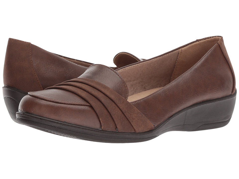 LifeStride Imperia (Dark Tan) Wedges