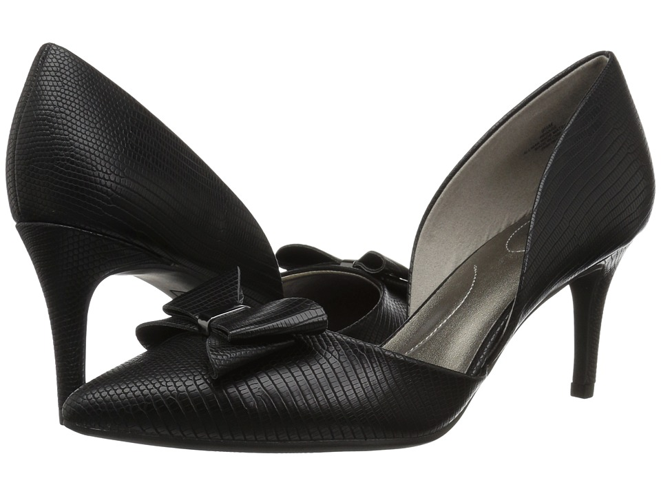 Bandolino Gage Heel (Black Lizard) High Heels