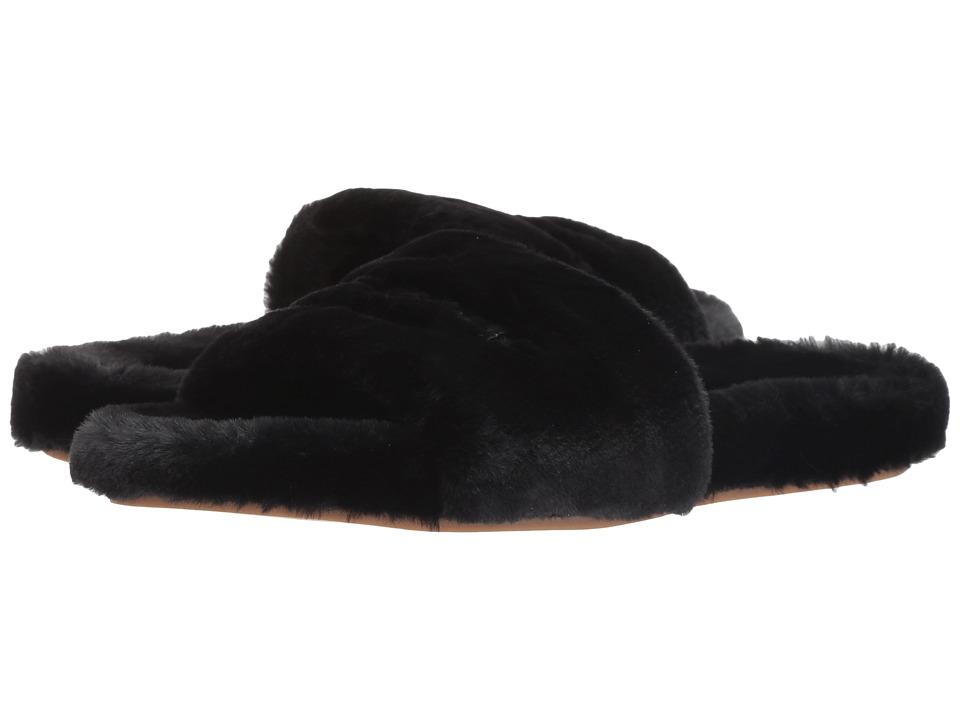 Kate Spade New York Thalia (Black Faux Rabbit Fur) Women's Shoes