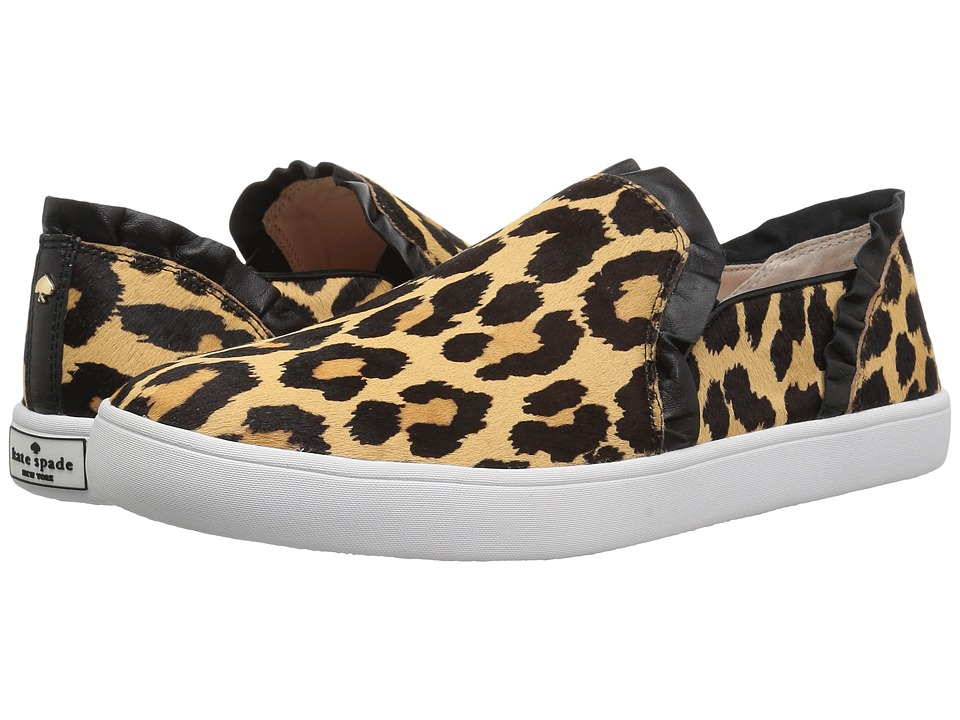 Kate Spade New York Lilly (Black/Amaretto Leopard Print Haircalf) Women's Shoes