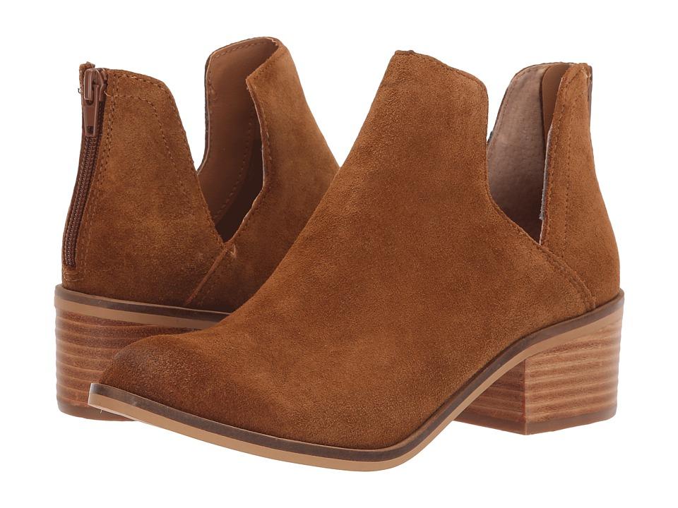 Steve Madden Lancaster Bootie (Cognac Suede) Slip-On Shoes