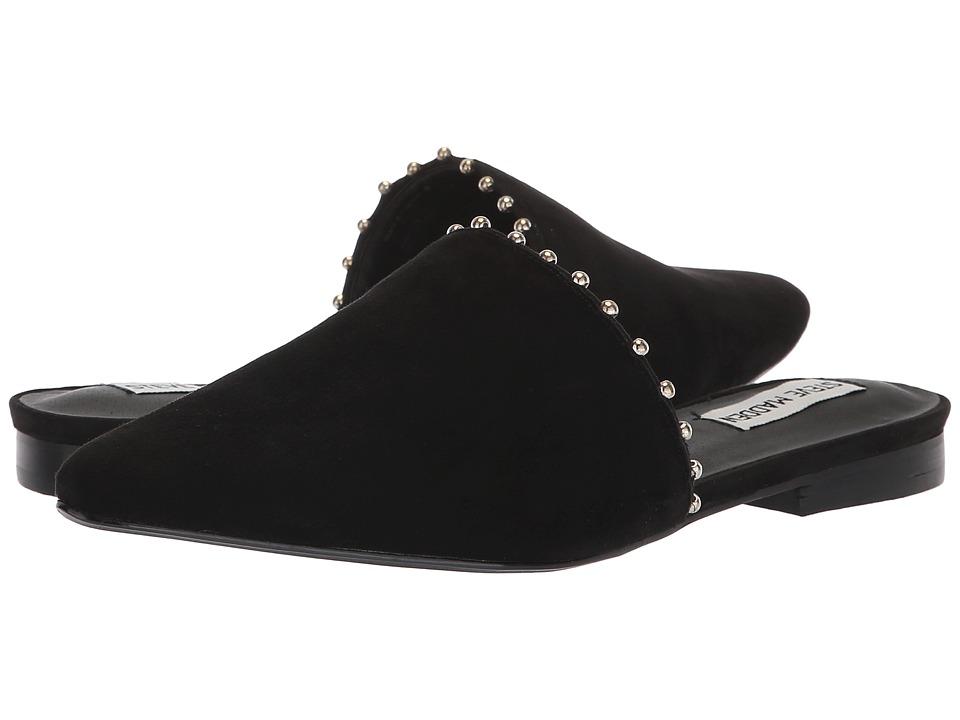Steve Madden Trace-B Flat Mule (Black Suede) Women's Shoes
